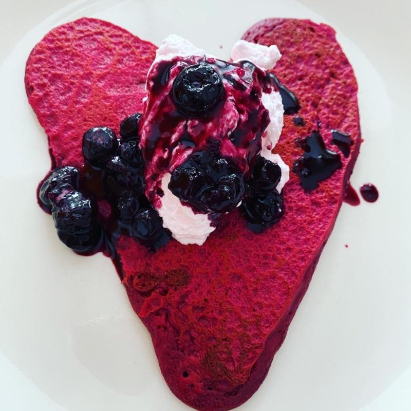 Pink Heart Pancakes