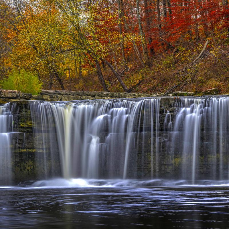 Fall Colors at Cataract Falls, Cloverdale, Indiana