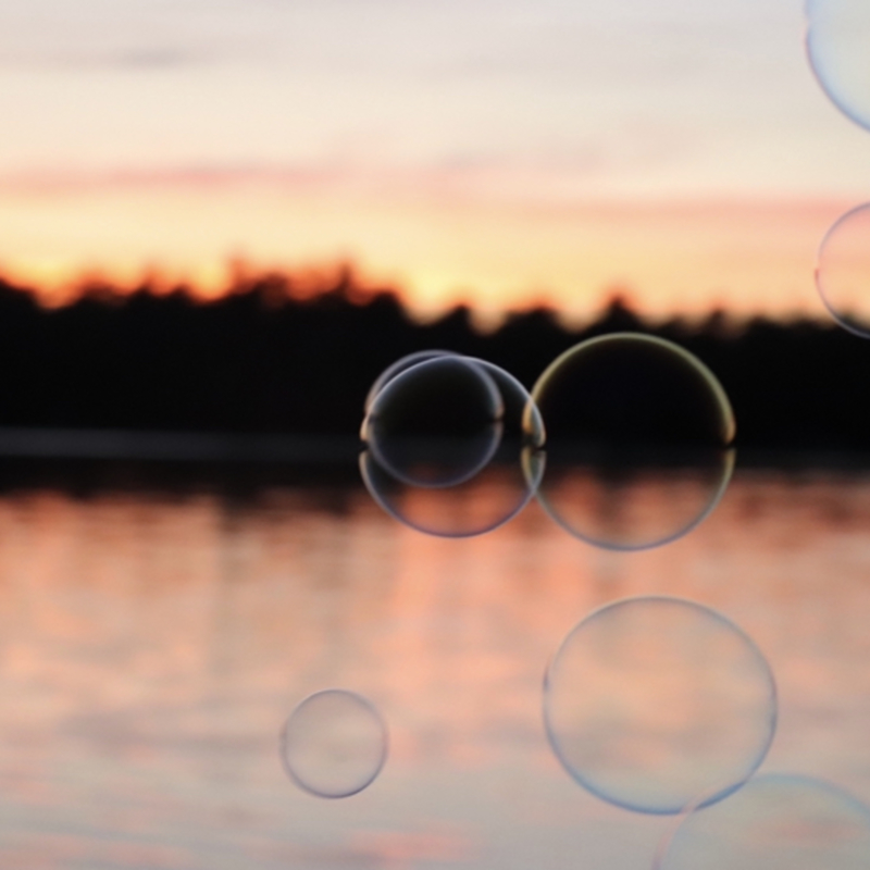 Bubbles on the Lake